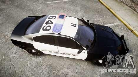 Dodge Charger 2014 Redondo Beach PD [ELS] для GTA 4 вид справа