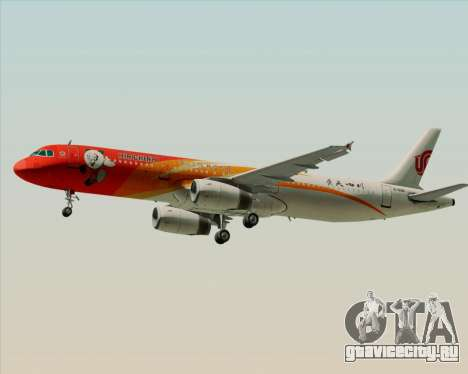 Airbus A321-200 Air China (Beautiful Sichuan) для GTA San Andreas вид справа
