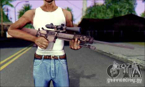 M110 с Оптическим прицелом для GTA San Andreas третий скриншот