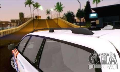 Volvo V70 LE Politie для GTA San Andreas вид сзади слева