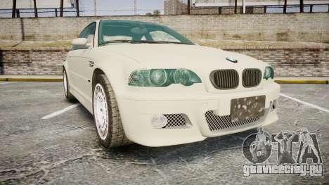 BMW M3 E46 2001 Tuned Wheel White для GTA 4
