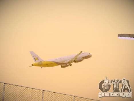 Airbus A321-232 Monarch Airlines для GTA San Andreas вид сверху