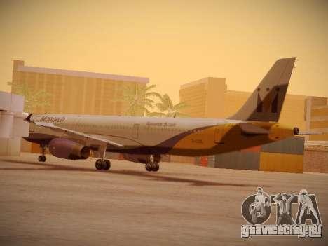 Airbus A321-232 Monarch Airlines для GTA San Andreas вид сзади слева