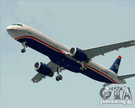 Airbus A321-200 US Airways для GTA San Andreas вид слева