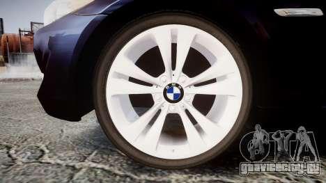 BMW 530d F11 Unmarked Police [ELS] для GTA 4 вид сзади