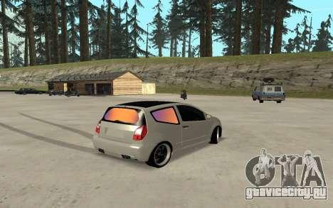 Citroen C2 для GTA San Andreas вид сзади слева
