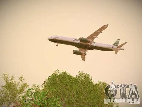 Airbus A321-232 jetBlue NYJets для GTA San Andreas двигатель