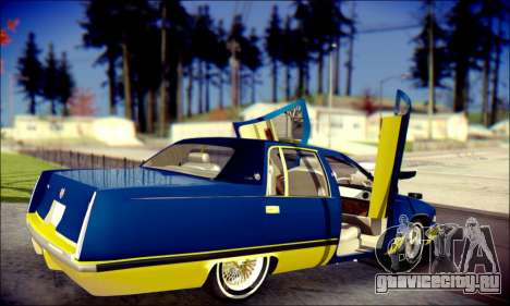 Cadillac Fleetwood 1993 Lowrider для GTA San Andreas вид снизу