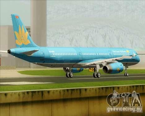 Airbus A321-200 Vietnam Airlines для GTA San Andreas вид сзади