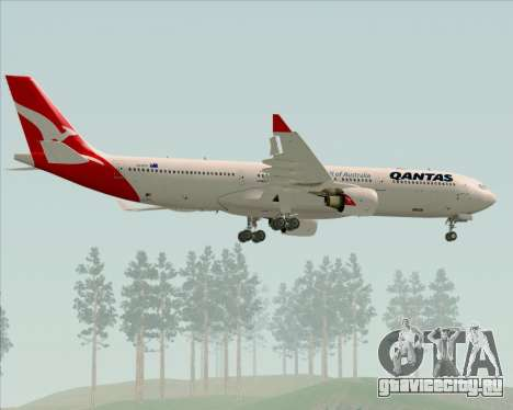 Airbus A330-300 Qantas (New Colors) для GTA San Andreas колёса