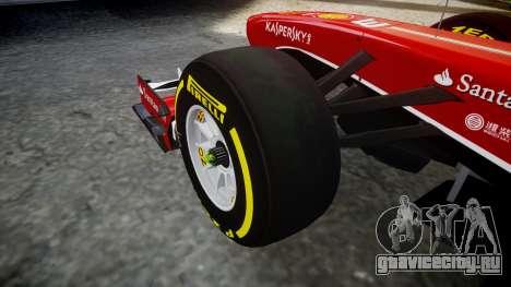 Ferrari F138 v2.0 [RIV] Massa TSD для GTA 4 вид сзади
