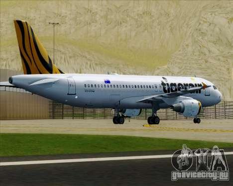 Airbus A320-200 Tigerair Australia для GTA San Andreas колёса