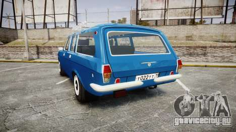 ГАЗ-24-12 Волга Wh1 для GTA 4 вид сзади слева
