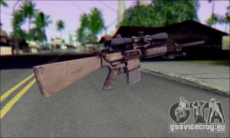 M110 с Оптическим прицелом для GTA San Andreas второй скриншот