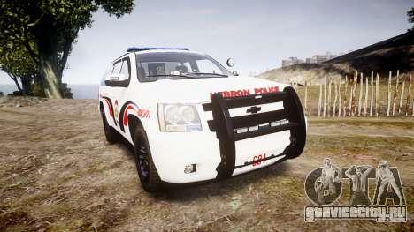 Chevrolet Suburban 2008 Hebron Police [ELS] Blue для GTA 4