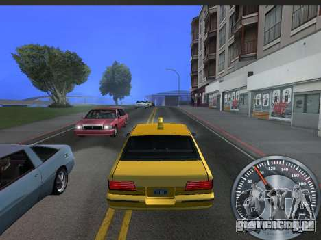 Классический металлический спидометр для GTA San Andreas