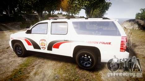 Chevrolet Suburban 2008 Hebron Police [ELS] Red для GTA 4 вид слева