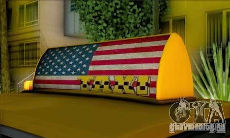 Willard Marbelle Taxi Saints Row Style для GTA San Andreas вид сзади слева