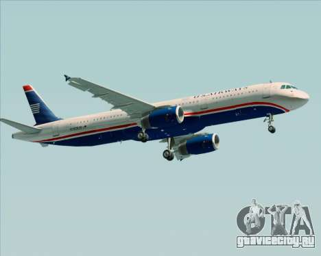 Airbus A321-200 US Airways для GTA San Andreas вид сзади