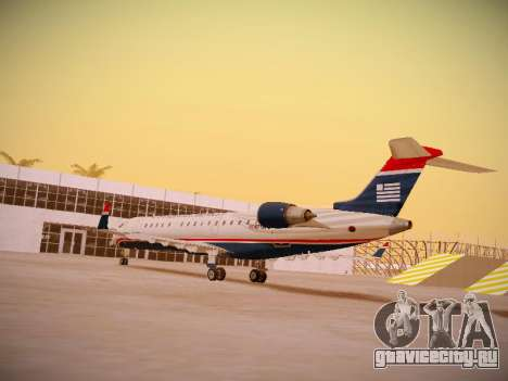 Bombardier CRJ-700 US Airways Express для GTA San Andreas вид сзади слева