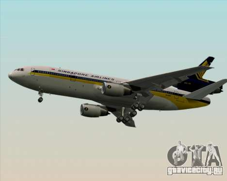 McDonnell Douglas DC-10-30 Singapore Airlines для GTA San Andreas вид справа