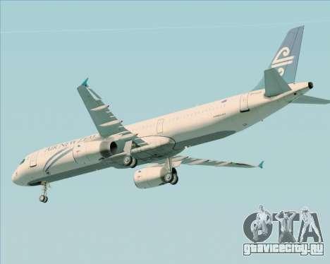 Airbus A321-200 Air New Zealand для GTA San Andreas двигатель