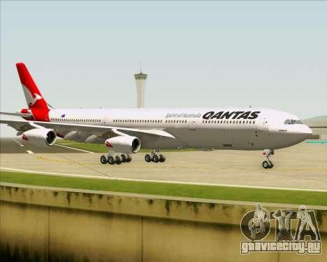 Airbus A340-300 Qantas для GTA San Andreas вид изнутри