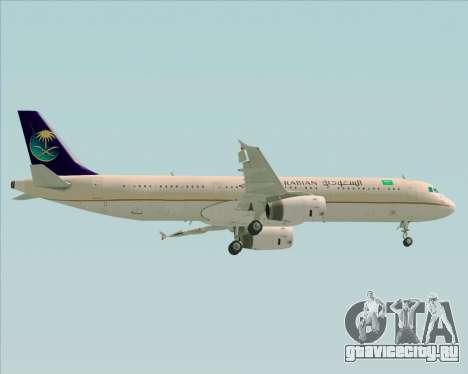Airbus A321-200 Saudi Arabian Airlines для GTA San Andreas вид сверху