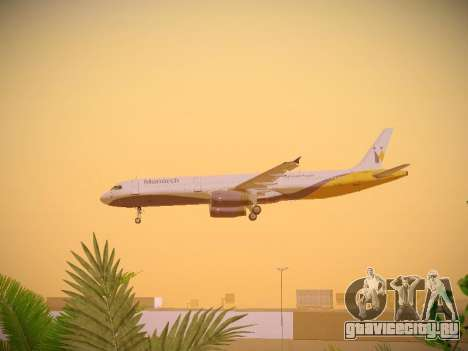 Airbus A321-232 Monarch Airlines для GTA San Andreas салон
