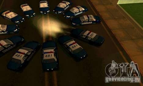 FCPD Ford Crown Victoria для GTA San Andreas вид справа