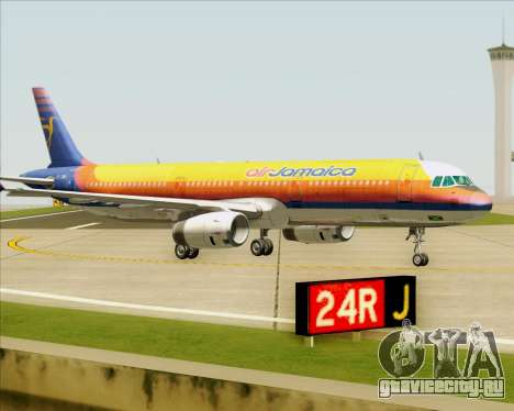 Airbus A321-200 Air Jamaica для GTA San Andreas вид сверху