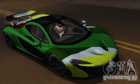 McLaren P1 Black Revel для GTA San Andreas вид сбоку