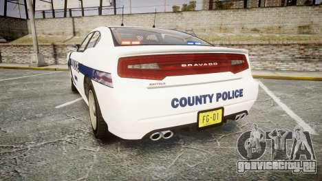 GTA V Bravado Buffalo Liberty Police [ELS] Slick для GTA 4 вид сзади слева