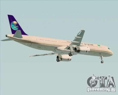 Airbus A321-200 Saudi Arabian Airlines для GTA San Andreas вид сбоку
