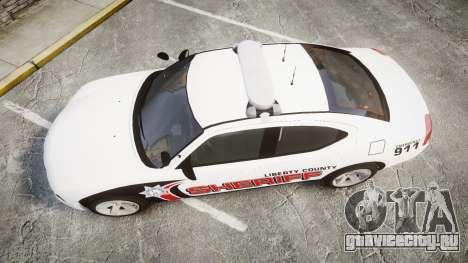 Dodge Charger 2010 LC Sheriff [ELS] для GTA 4 вид справа