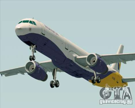 Airbus A321-200 Monarch Airlines для GTA San Andreas вид слева