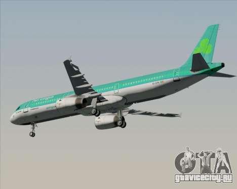Airbus A321-200 Aer Lingus для GTA San Andreas вид изнутри