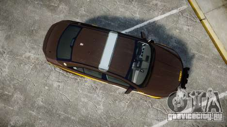Ford Taurus Sheriff [ELS] Virginia для GTA 4 вид справа