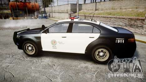 GTA V Vapid Interceptor LSP [ELS] для GTA 4 вид слева