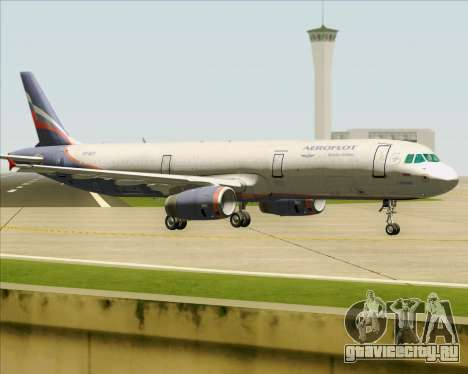 Airbus A321-200 Aeroflot - Russian Airlines для GTA San Andreas вид справа