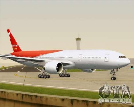 Boeing 777-21BER Nordwind Airlines для GTA San Andreas вид снизу