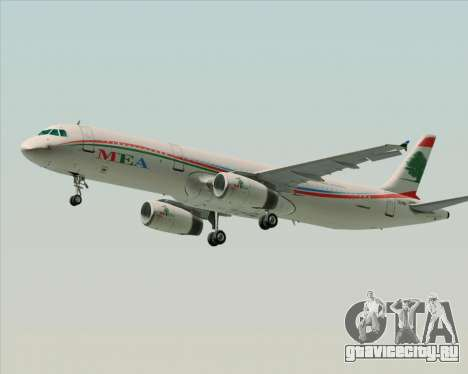 Airbus A321-200 Middle East Airlines (MEA) для GTA San Andreas вид слева