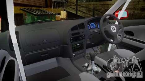 Mitsubishi Lancer Evolution VI Rally Marlboro для GTA 4 вид сзади