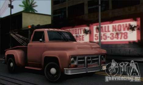 Towtruck GTA 5 для GTA San Andreas вид сзади слева