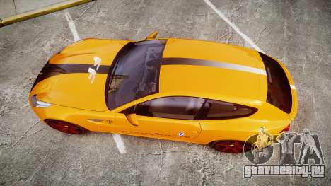 Ferrari FF 2012 Pininfarina Yellow для GTA 4 вид справа