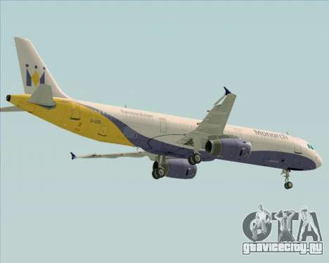Airbus A321-200 Monarch Airlines для GTA San Andreas вид сбоку