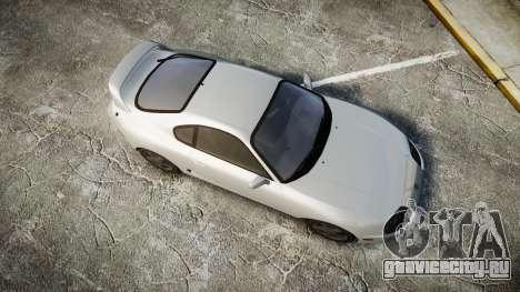 Toyota Supra для GTA 4 вид справа