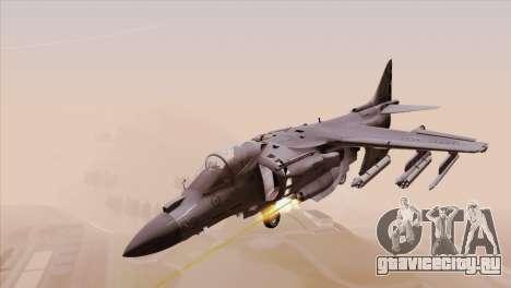 EMB AV-8 Harrier II USA NAVY для GTA San Andreas вид сзади слева