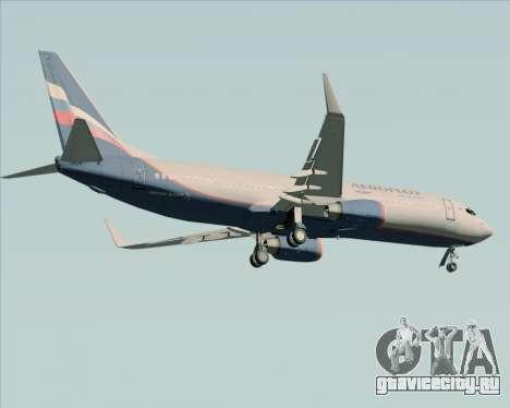 Boeing 737-8LJ Aeroflot - Russian Airlines для GTA San Andreas вид сзади