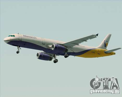 Airbus A321-200 Monarch Airlines для GTA San Andreas вид изнутри